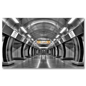 Αφίσα (Πράγα, υπόγειος, σταθμός, μαύρο, λευκό, άσπρο)